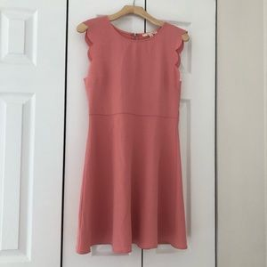Francesca's Collections Dresses - Peach scalloped dress